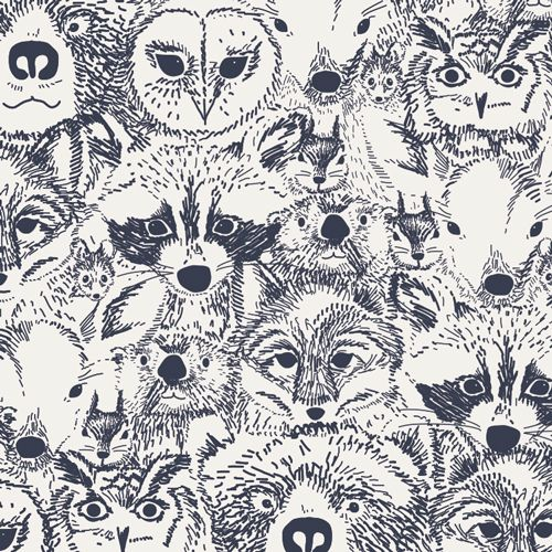 Fabric for blanket: Indian Summer Sarah Watson Menagerie Timberwolf