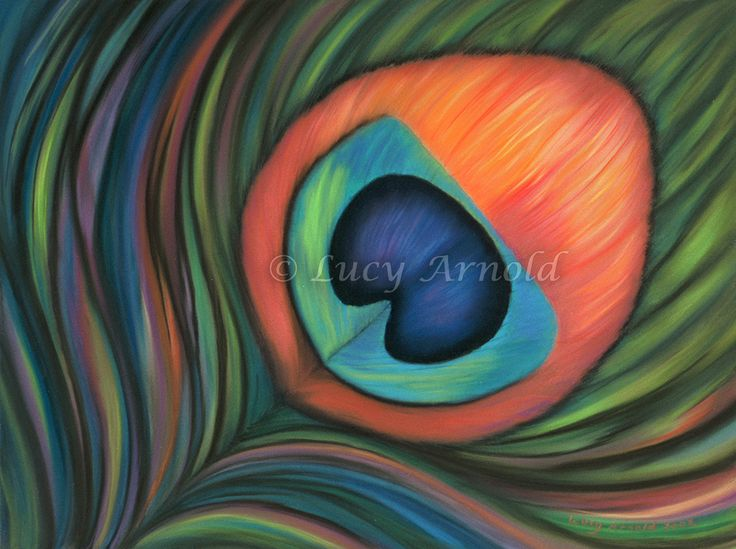 18x24pastel This rich, dark pastel painting is a slightly abstracted vision of a peacock feather. Unlike any of my other abstract paintings, this one was painted while looking at the source material - a real…