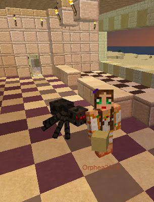 Orphea2012 Youtube et Minecraft: Minecraft | J'ai l'impression que cette araignée v...