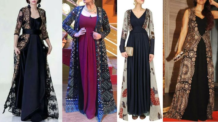 Top 20 Gowns With Jacket designs    Indian Gowns With Jacket    Long Jac...