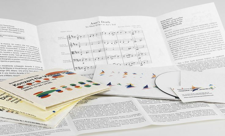 #Laguna #Favini - Opuscolo mostra Classical Music Synesthesia / Design: Onofrio Magro - Valeria Panizza - Find more on #Laguna http://www.favini.com/gs/en/fine-papers/laguna/features-applications/