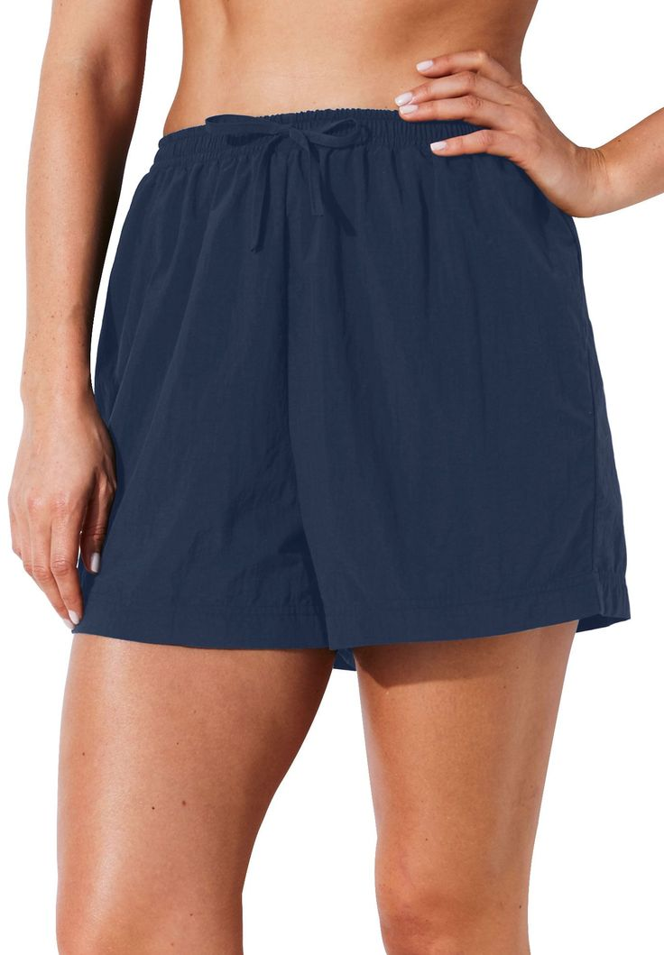 Taslon cover-up swim shorts - Women's Plus Size Clothing