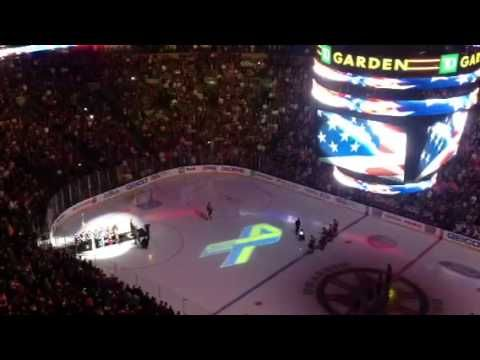 National anthem at the first sporting event in Boston after the marathon bombings.  Beautiful.