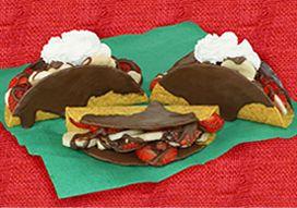 Chocolate Fruit Tacos for Cinco de Mayo