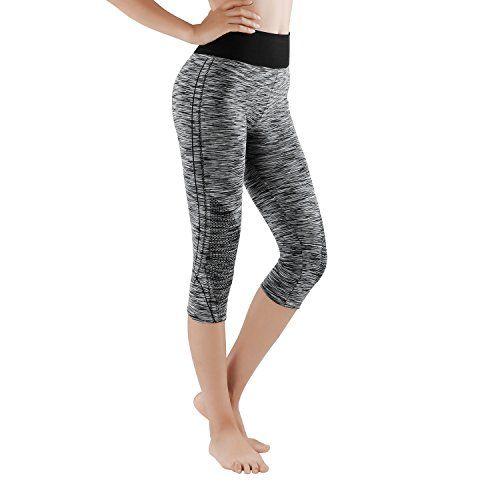 GoVIA 3 4 Legging pour femme Pantalon de course à pied Pantalon de sport  respirant Pantalon de Yoga Fitness Taille haute Long Rayures 4103 S M 0453fd9a0a5