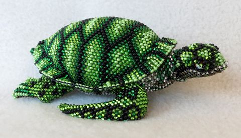 Enjoy the detailed beadwork on our unique colorful BEADED TURTLE hand-made by native people in Guatmala. A perfect gift.