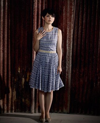TV Fashion * Show: Once Upon a Time * Actress: Ginnifer Goodwin * Character: Snow White / Mary Margaret * Dress: 'Plenty' by Tracy Reese for Anthropologie * Shoes: Repetto