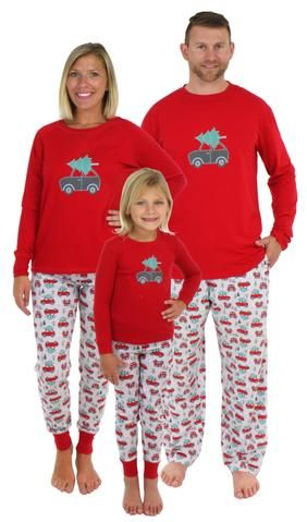 5e0115458d Holiday Family Matching Tree Delivery Pajama PJ Sets | Christmas ...
