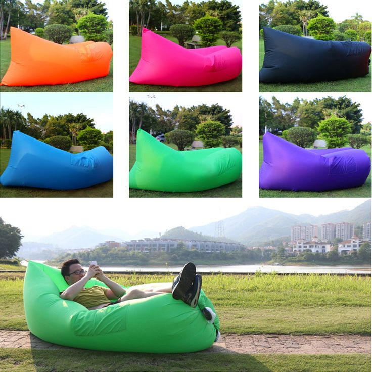 Small Sectional Sofa Inflatable Outdoor Sleeping Bag Lightweight Double Air Lazy Bag Fast Air Sleeping Bag Camping Bed Beach