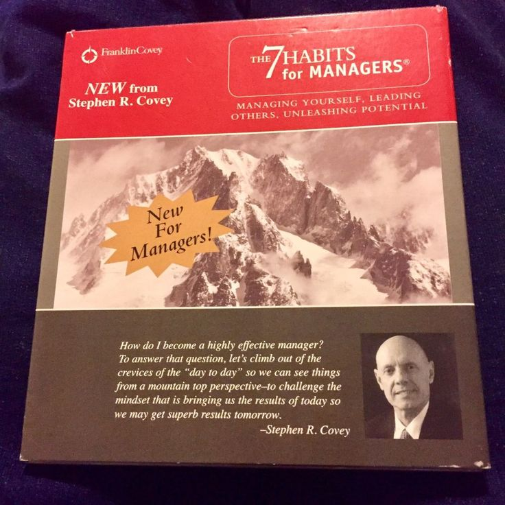 The 7 Habits for Managers Managing Yourself Leading Others CD Franklin Covey  #FranklinCovey