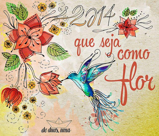 2014 - Que seja como flor - de duas, uma   Flickr – illustration, ilustração, drawing, draw