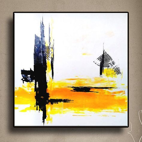32 Original Abstrakt Acryl Malerei Wand Kunst Moderne