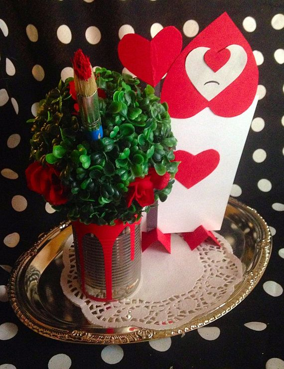 Queen of Hearts Themed Table Centerpiece or by PartyNeedsPlus