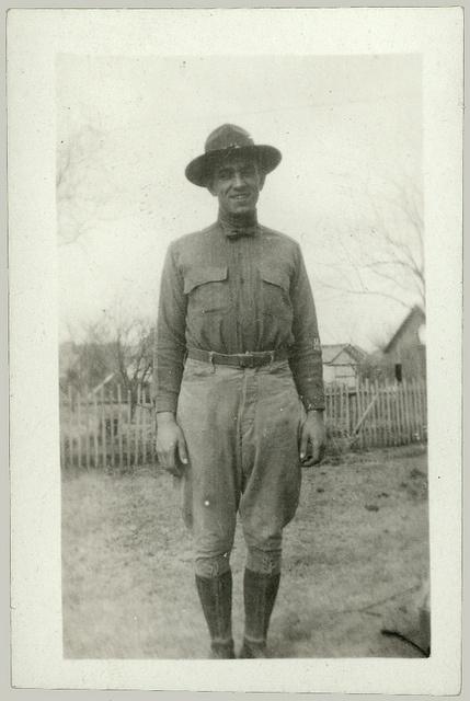 A man in World War One uniform