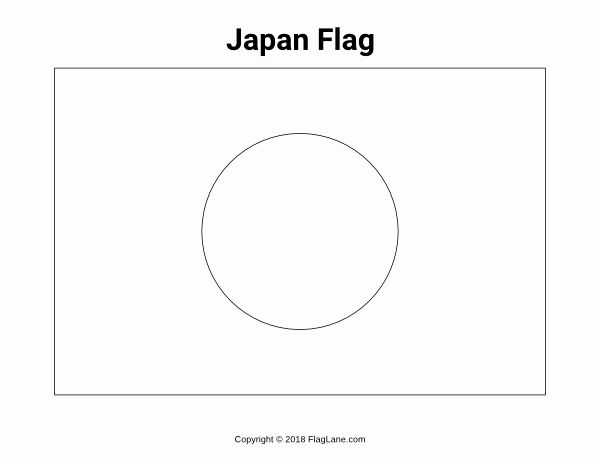 Japan Flag Coloring Page Lovely Free Japan Flag Coloring Page In 2020 Flag Coloring Pages Japan Flag Japan