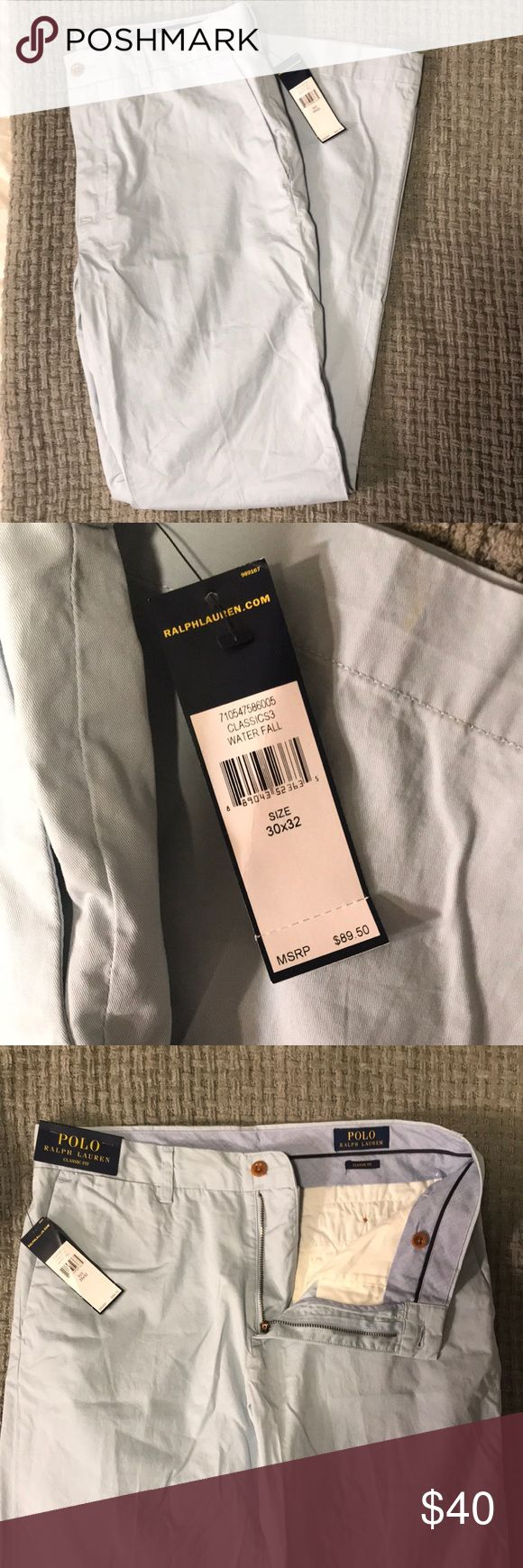 """NEW Polo Light Blue Chino Pants BRAND NEW Polo Ralph Lauren Classic Fit """"water fall"""" light blue chinos/khakis 30x32 Polo by Ralph Lauren Pants Chinos & Khakis"""