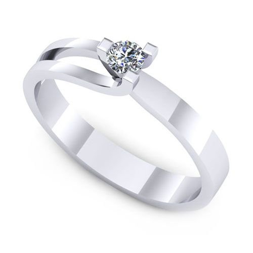 Inel de logodna F102ADI cu diamant 0.08ct
