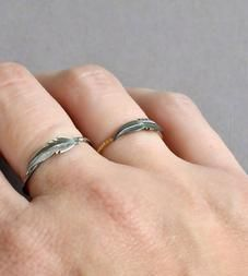 Tiny Feather Ring