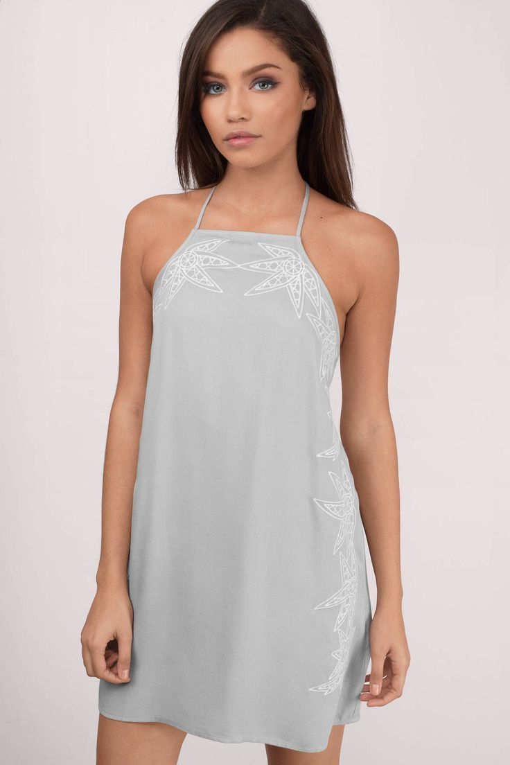 Elegant Search Sidelines Embroidery Shift Dress on Tobi now wedding guest