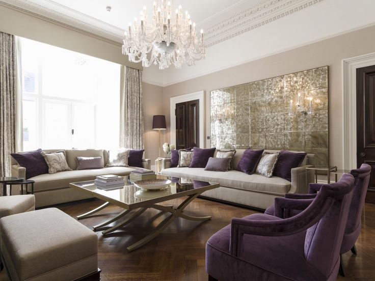 Formal living room in Kensington mansion