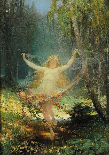 "Cesar Philipp (German, b.1859), ""Allegoria Della Primavera"" | Flickr - Photo Sharing!"