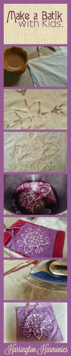 Make your own batik for a unit study on Phoenicia. Using homemade purple dye of your own adds to the project. Could be used with SOTW or any other Ancient History program. #homeschool #phoenician