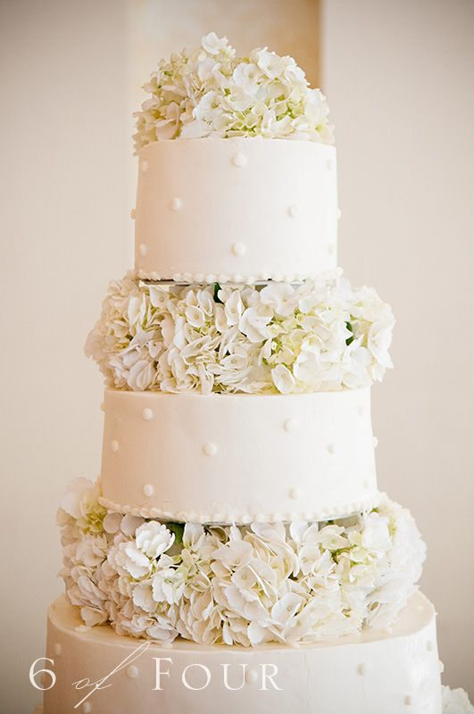 Cheesecake is the wedding cake - it will look much like this but the hydrangeas will be blue.