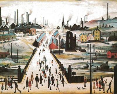 Canal Bridge Art Print - LS Lowry