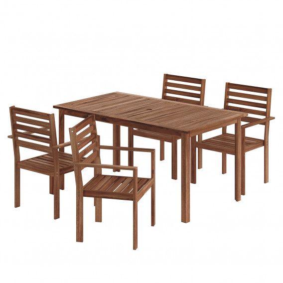 Gartenessgruppe Mimo I 5 Teilig Gartentisch Mit Stuhlen