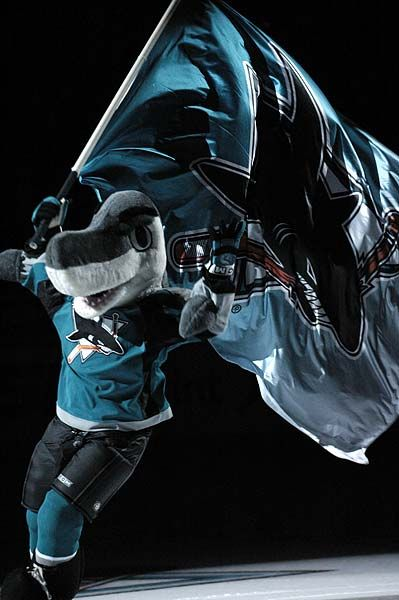 SJ Sharkie.  The hardest working fish in the NHL.