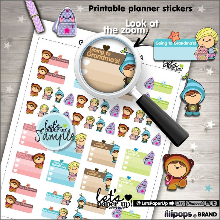 60%OFF - Printable Planner Stickers, Going to Grandma's Stickers, Visit to, Grandchild, Checklist, Kawaii Stickers, Planner Accessories