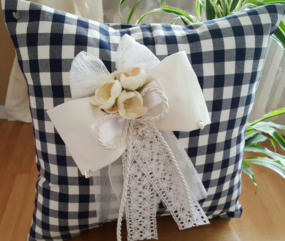Beautiful handmade white and blue decorative by WhispersofAngels17