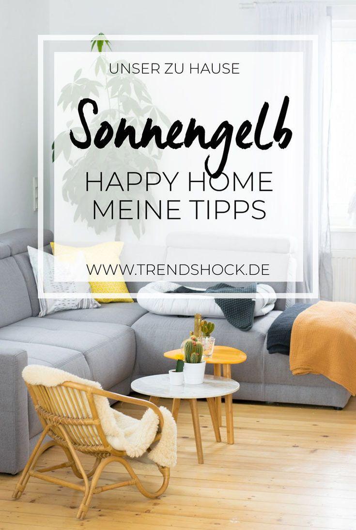 Sonnengelb im Wohnzimmer  Happy Home 8 mit Höffner