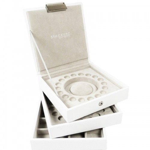 Jewelry Box For Pandora Charms: White Charm Stackers Set Of 3