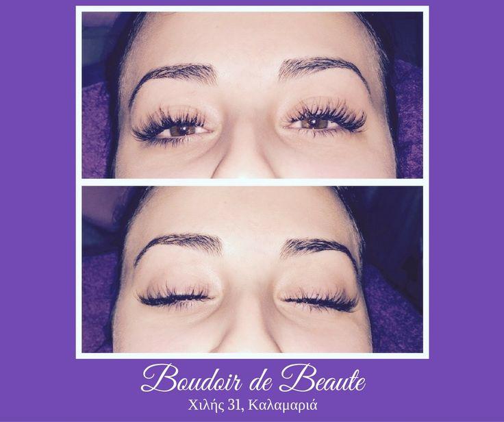 3D Eyelashes! #3D #eyelashes & #microblading #eyebrows #tattoo ! #beautysalon #boudoirdebeaute #kalamaria #thessaloniki