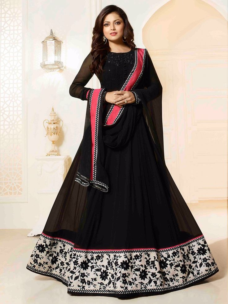Black Georgette Anarkali Suit. View more collection at www.g3fashion.com For price or detail do whatsApp +91-9913433322 #stylefile#Repost#Beauty#fashion#makeup#hairdo#hairstyles#bollywood#bollywoodactress#bollywoodfashion#bollywoodstyle#fashionindia#indianfashion#fashionista#stylefile#style#bollywoodstyle#Pinkvilla#celebstyle#poojahegde #Priyankachopra