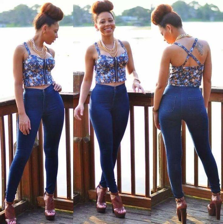 47 best High Waisted images on Pinterest | High waist jeans ...