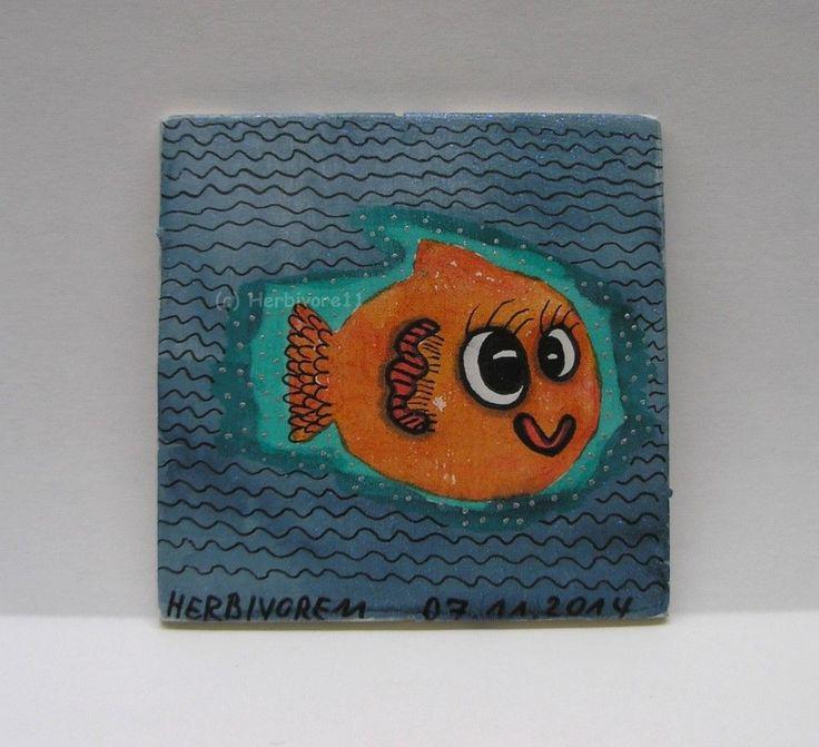 BABYFISCHLE von Herbivore11 Fisch Fische Inchie Minibild Stempel Effektfarben