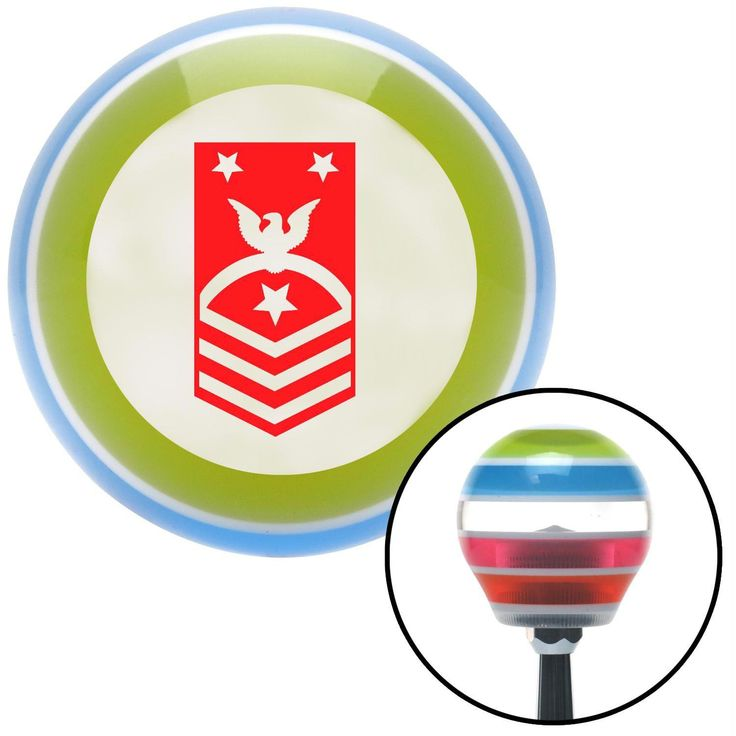 Red Force or Fleet Command Master Chief Petty Officer Stripe Shift Knob with M16 x 15 Insert