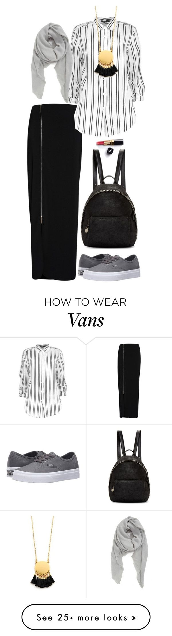 """Hijab luv"" by www-som on Polyvore featuring Gina Bacconi, Boohoo, Madewell, STELLA McCARTNEY, Vans, Chanel and BP."