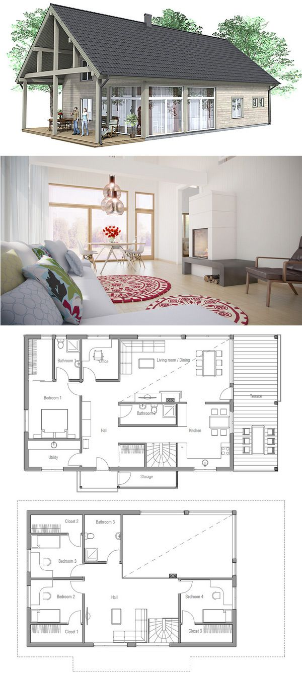 Les 25 Meilleures Id Es De La Cat Gorie Plans De Petite: simple but elegant house plans