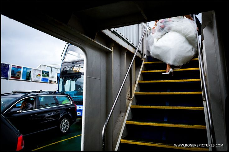 I love this composition as Vicky leaves the Chain Ferry at Shell Bay -
