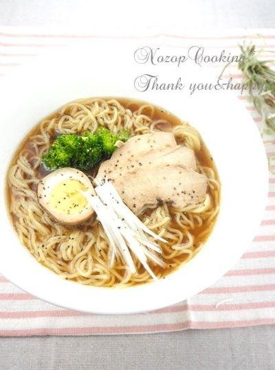 鶏出汁ストックで本格醤油ラーメンレシピ by Nozop-cooking*さん ...