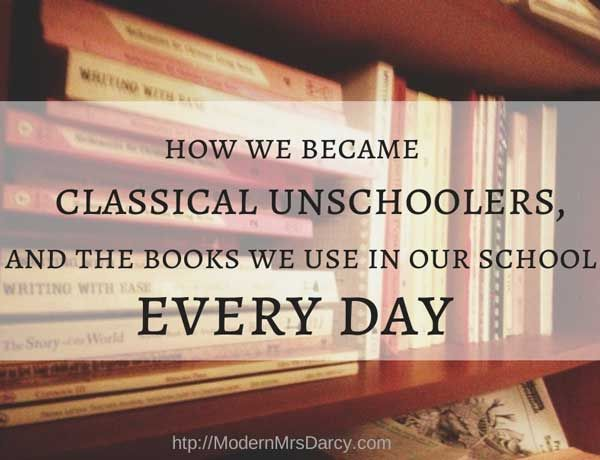 """We set out to become classical educators, not unschoolers, But after 4 years of homeschooling, I've finally accepted that this """"classical unschooling"""" thing is a great fit for my kids--and for me. #homeschooling"""