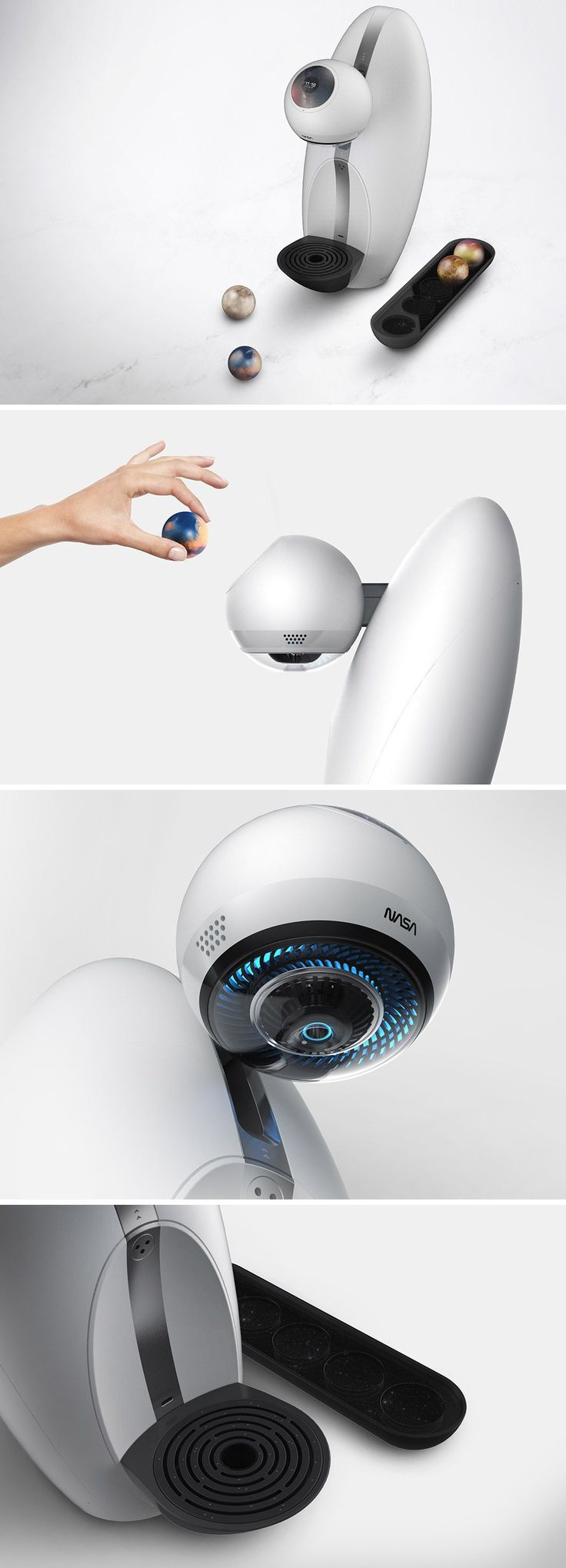 What if NASA made a coffee maker? This stellar concept called Dot/Dot explores this very question! Applying the design language of the aeronautic giant, this coffee pod machine takes on a never before seen aesthetic that caffeine cravers and space enthusiasts alike will appreciate.