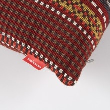 Paul Smith For Maharam - Brick And Greige Point Cushion
