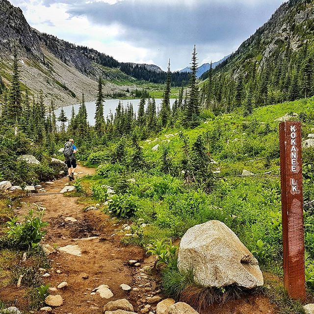 The hiking is sublime on the way into Kokanee Glacier Hut. You can also camp nearby; both places make good bases for further day hikes. The trailhead is about 16 kms in from Highway 3A and not far from Nelson #kootrocks #hiking