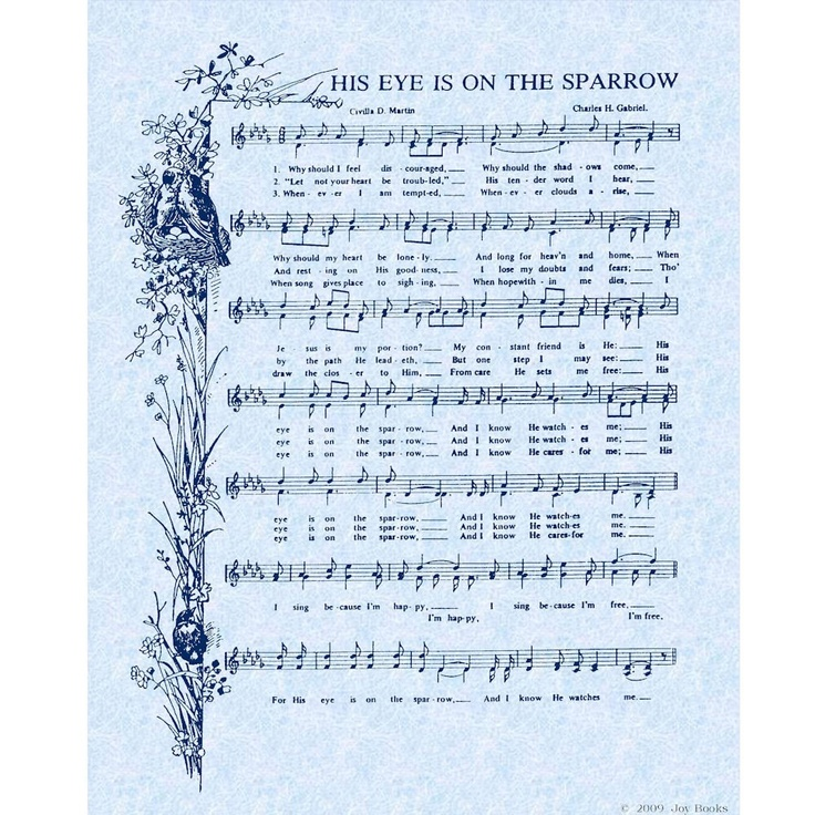 All Music Chords his eye is on the sparrow music sheet : 343 best Sheet Music images on Pinterest | Sheet music, Church ...