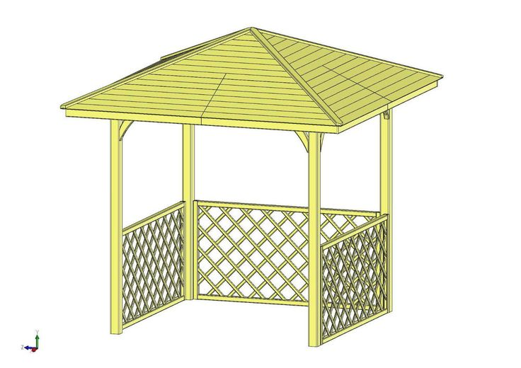 1.8m x 1.8m (Ex 2.7 m x 2.7 m) WOODEN GAZEBO, HOT TUB COVER (MADE IN EU - FSC)