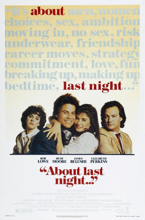 Image result for about last night poster